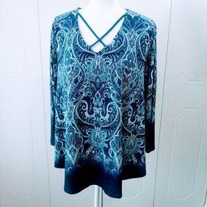 Chico's Paisley Tunic Size 2